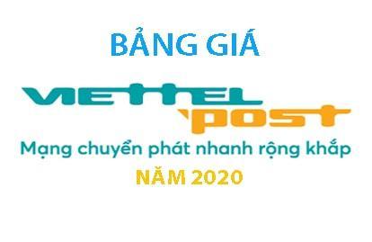 Cập nhật bảng giá Viettel Post mới nhất năm 2020