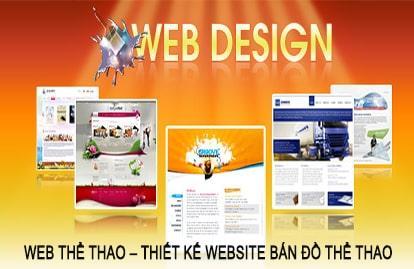 Thiết kế web thể thao, website bán đồ thể thao tại Hà Nội