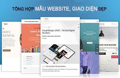 Tổng hợp các mẫu website đẹp, giao diện website đẹp đa ngành nghề