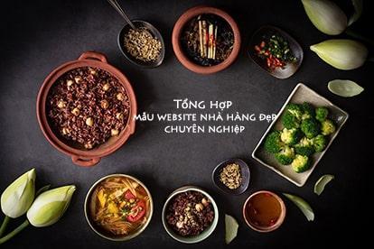 Mẫu website nhà hàng đẹp - Template web nhà hàng chuẩn SEO