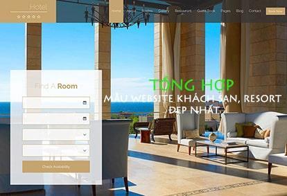 Mẫu website khách sạn, resort đẹp nhất hiện nay