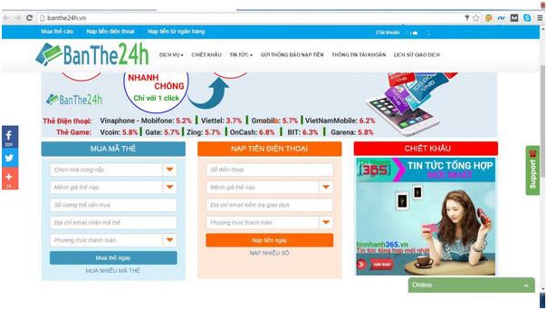 Top 4 địa chỉ thiết kế web bán thẻ điện thoại uy tín