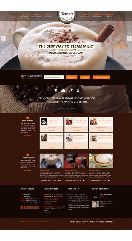 Thiết kế web quán cà phê Verona
