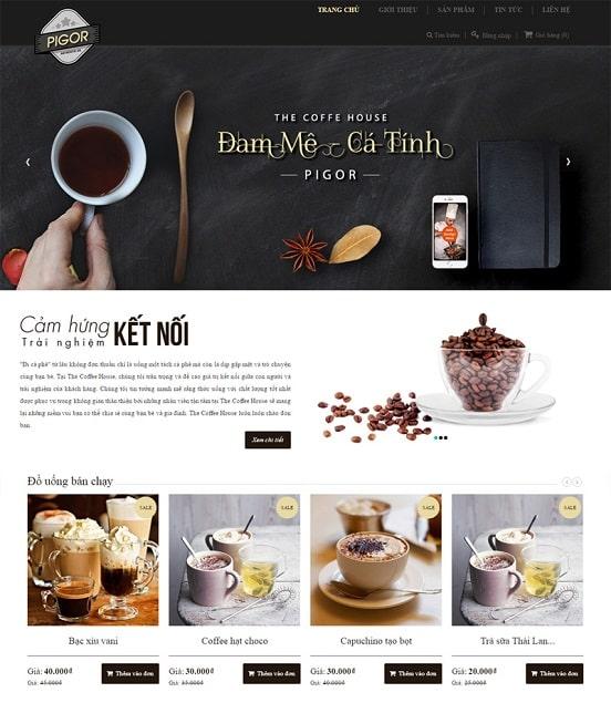 Thiết kế web cà phê Pigo