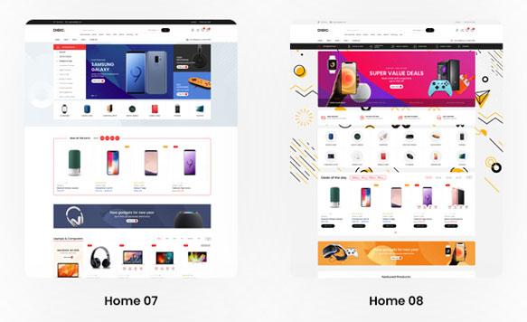 Mẫu thiết kế website điện thoại ấn tượng