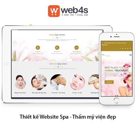 Thiết kế web thẩm mỹ viện đẹp tại Web4s