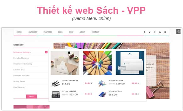 Làm trang Web VPP đẹp