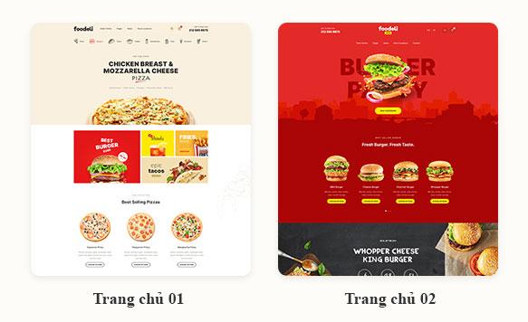Mẫu Website thực phẩm đồ uống đẹp