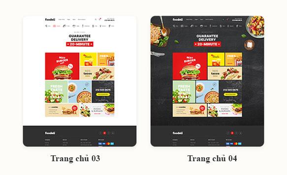 Mẫu Website thực phẩm chức năng