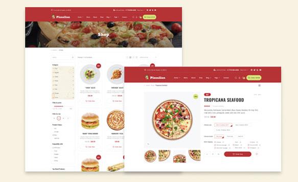Thiết kế website thực phẩm tương thích mobile