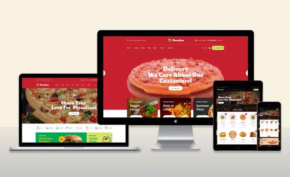 Thiết kế website thực phẩm chuẩn đồ uống Seo đẹp