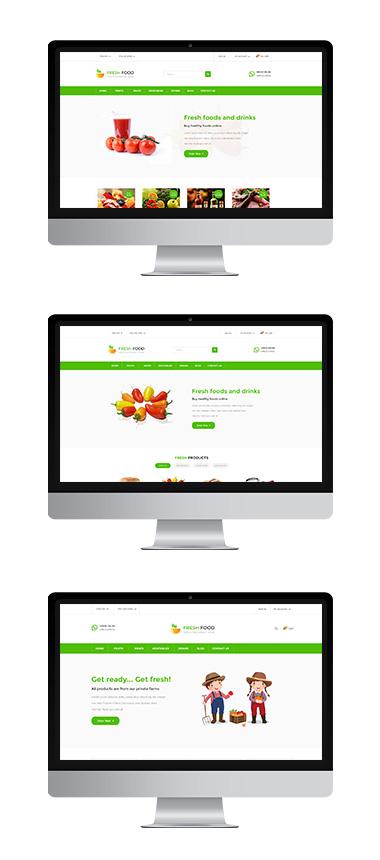 Thiết kế Website thực phẩm đẹp tại Hà Nội