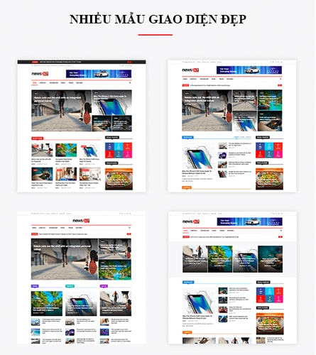 Mẫu giao diện thiết kế website 247