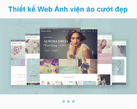 Thiết kế web ảnh viện áo cưới chuẩn seo tại Web4s