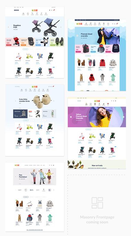 mẫu thiết kế web các trang đồ chơi online trực tuyến - miễn phí - đẹp