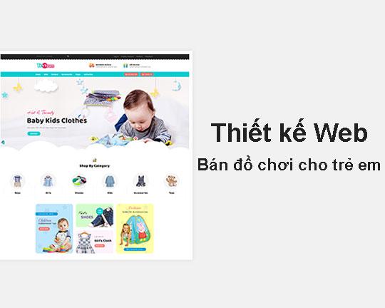 Thiết kế web bán đồ chơi chuẩn seo - Web4s