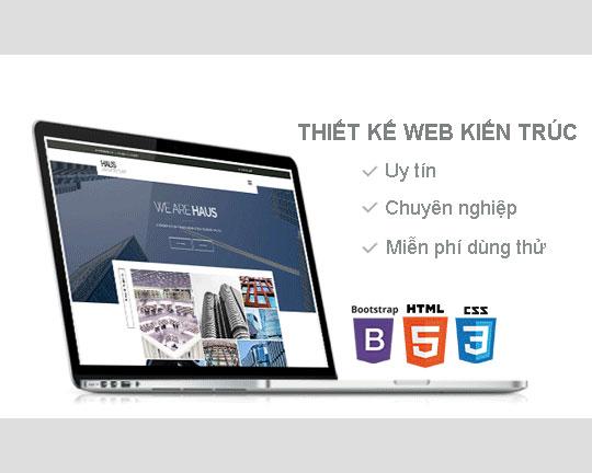 Thiết kế website kiến trúc Hàng đầu Hà Nội